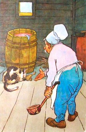 крылова кот к басне повар рисунок и